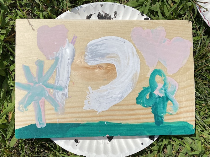 Campers express themselves through woodworking